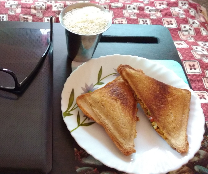 Egg Burji Grilled Sandwich